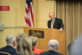 10/21/2015 - Medford, MA - Dean Stavridis introduces Kimberly Theidon at a special event in honor of the Henry J. Leir Chair in International Humanitarian Studies and Inaugural Henry J. Leir Human Security Award on October 21st, 2015. (Ian MacLellan for Tufts University)