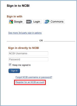 My NCBI Sign In