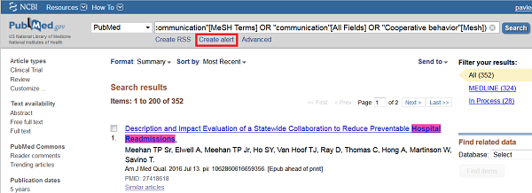 PubMed Create Alert