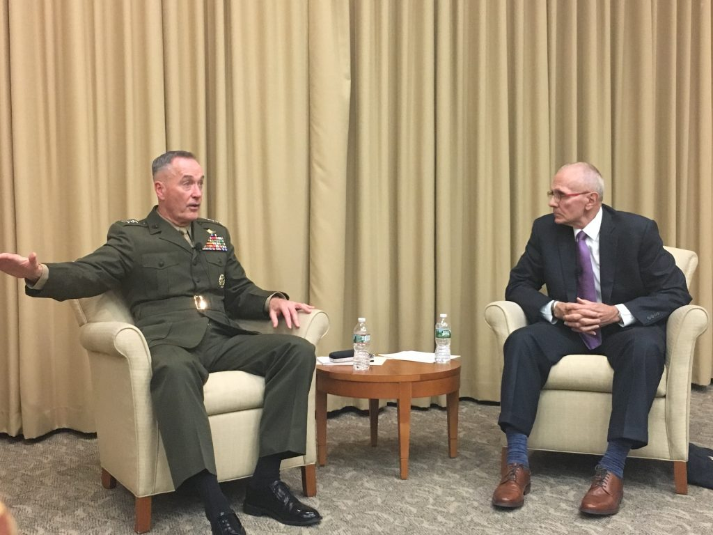 Professor Richard Shultz and General Joseph Dunford in November, 2017