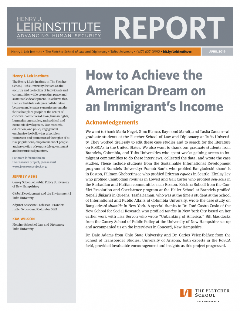 How to Achieve the American Dream on an Immigrant's Income