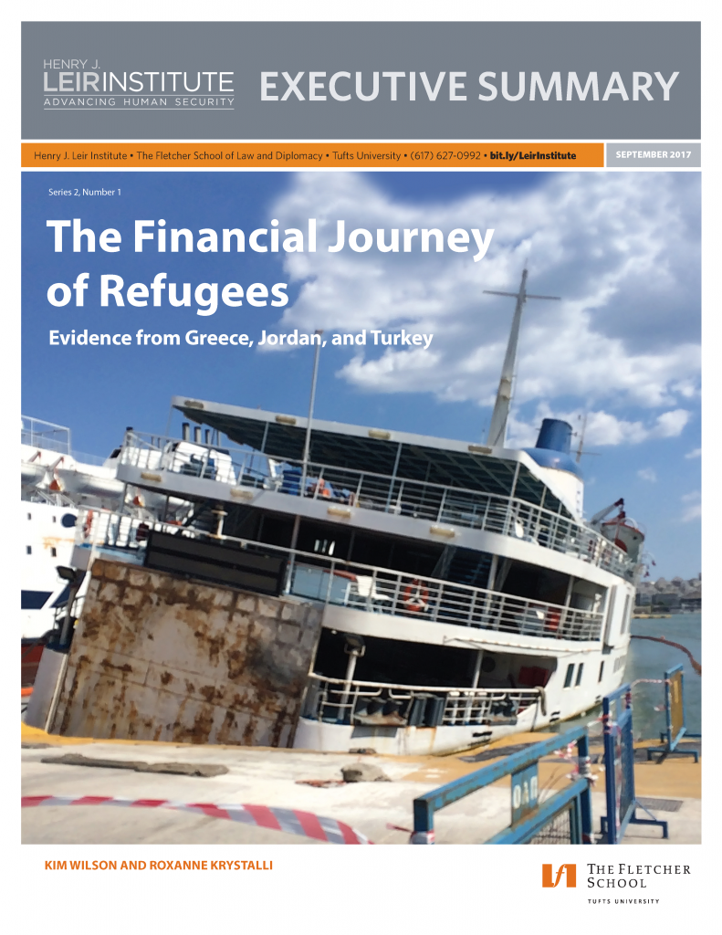 The Financial Journey of Refugees: Evidence from Greece, Jordan, and Turkey