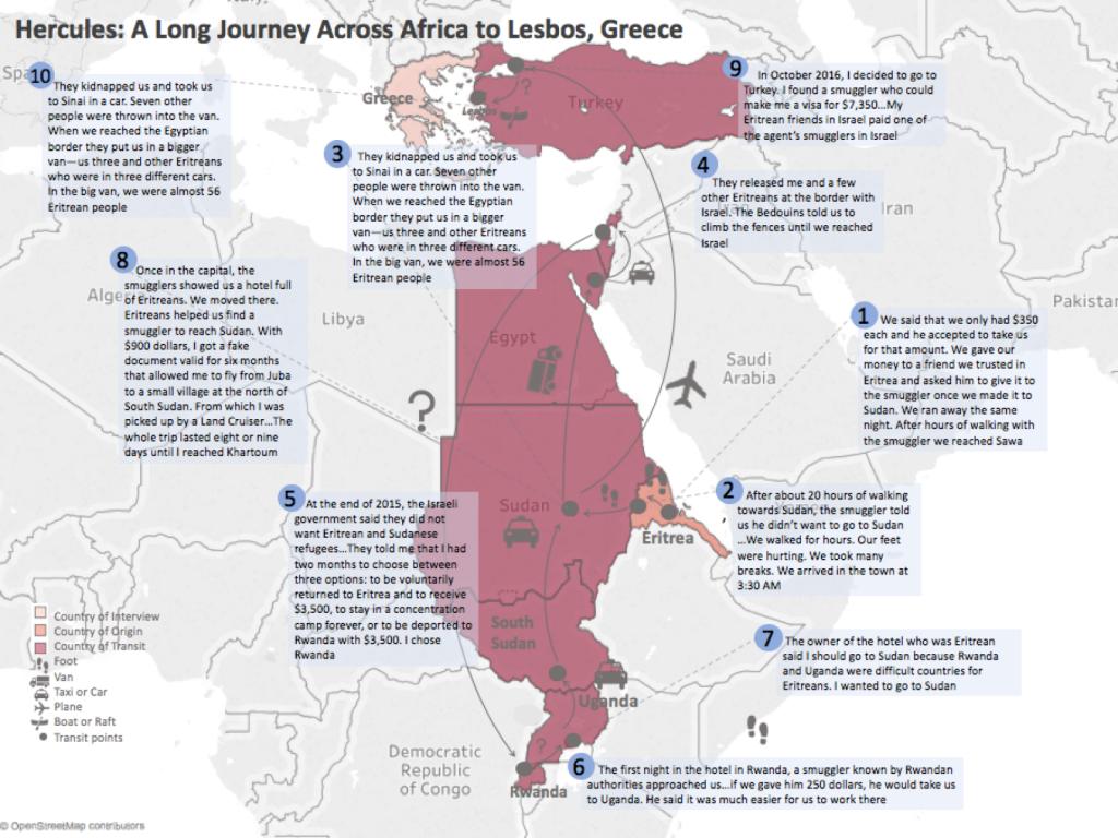 Eritrea to Greece