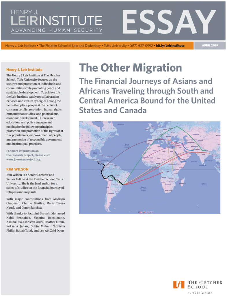 The Other Migration: The Financial Journeys of Asians and Africans Traveling through South and Central America Bound for the United States and Canada