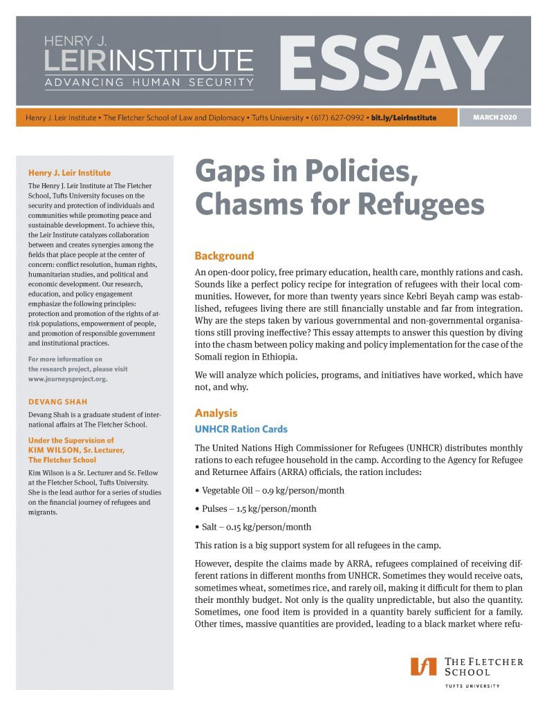 Gaps in Policies, Chasms for Refugees