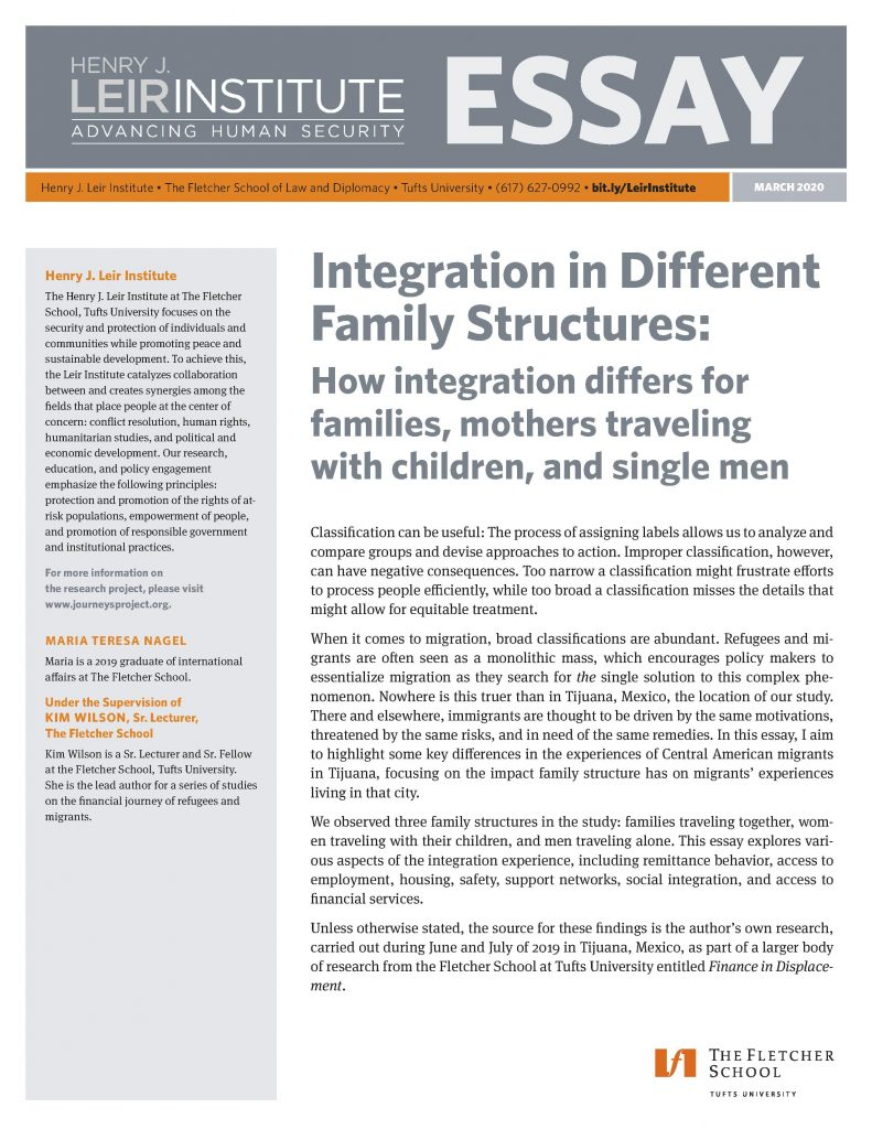Integration in Different Family Structures