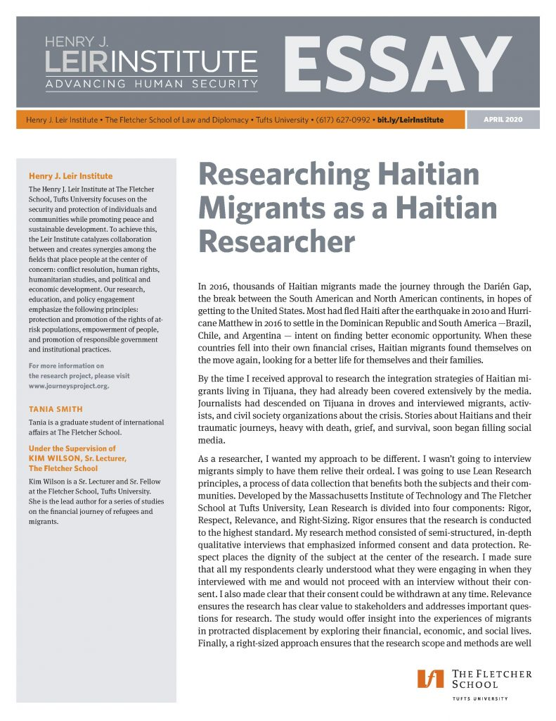 Researching Haitian Migrants as a Haitian Researcher
