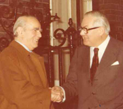 Constantine Karamanlis with James Callaghan