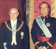 Constantine Karamanlis with Juan Carlos