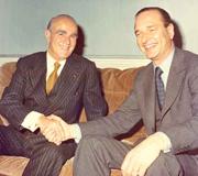 Constantine Karamanlis with Jacques Chirac