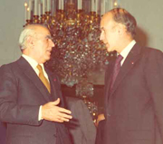 Constantine Karamanlis with Valery Gisard d'Estaing