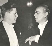 Constantine Karamanlis with John Kennedy