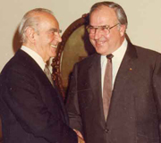 Constantine Karamanlis with Helmut Kohl