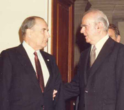 Constantine Karamanlis with Francois Mitterand