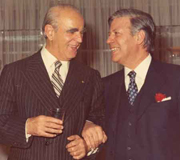 Constantine Karamanlis with Helmut Schmidt