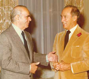 Constantine Karamanlis with Pierre Trudeau