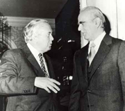 Constantine Karamanlis with Harold Wilson