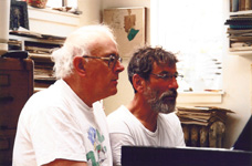 With Gregory Biss, Eastport, Maine, 2004