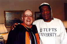 With Bill Cosby, Tufts Commencement, 2000