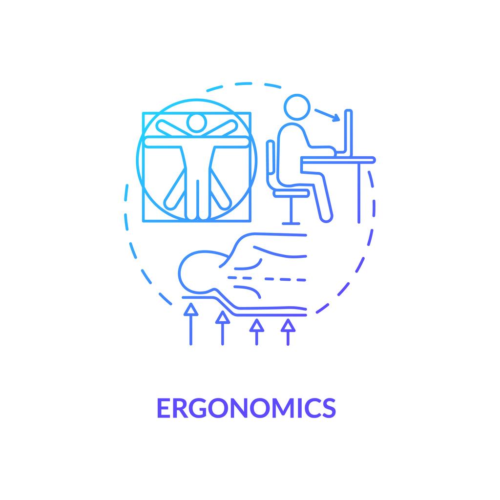 an illustration showcasing ergonomics