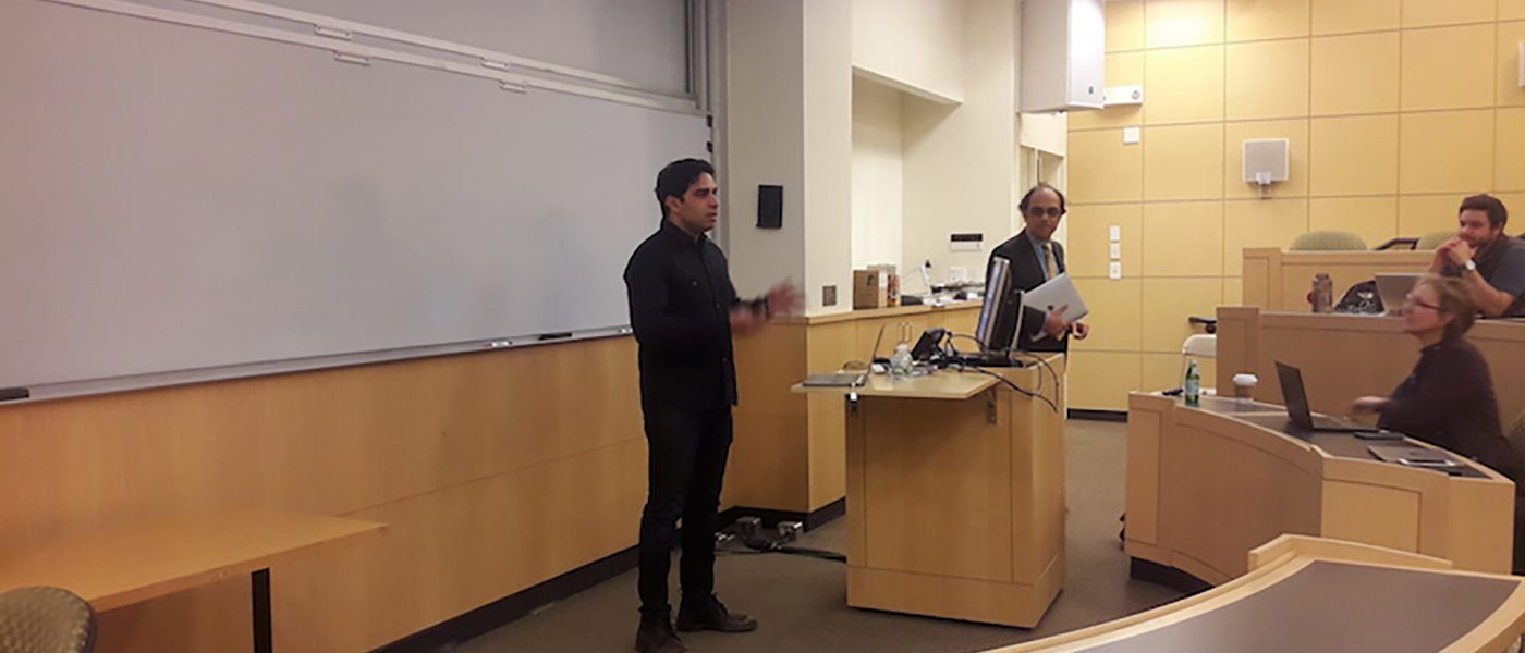Senior Fellow Vikram Bhaskaran of Pinterest spoke to Fletcher students on April 10th