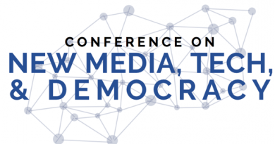 Conference on New Media, Tech & Democracy – 2020