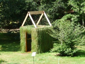 "Joel Reider's ""Eaves/Grass.""  Photo by Jan Crocker from the Heritage Museums and Gardens"