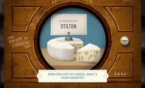 Playful and funny, the Mood-O-Meter even has you choose your cheese preference before telling you about Turner's own love of cheese.