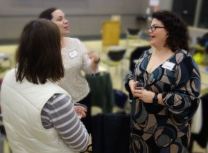 Museum Studies Alum Jennifer Clifford practicing her networking with Cinnamon Catlin-Legutko. (Photo Courtesy of Cynthia Robinson)
