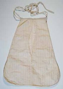 Pocket believed to have belonged to Abigail Adams at the Massachusetts Historical Society.