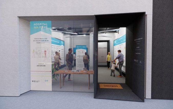 A view of the Well-B Innovation Center exhibit space.