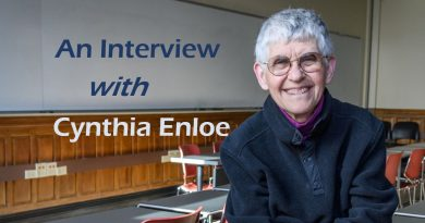 Be Curious, Do Research: An Interview with Professor Cynthia Enloe