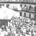 The inner courtyard of the former central prison in Addis Ababa, known as Alem Bekagn, during the Dergue Era 1975-1987. (Ethiopia Red Terror Research and Documentation Center)