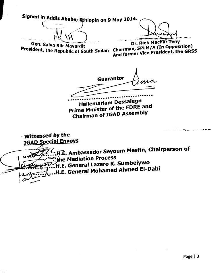 S Sudan agreement 9 May p. 3