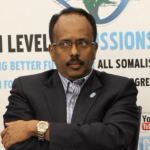 "photo of Somali diplomat, professor and politician Mohamed Abdullahi Mohamed ""Farmajo"""