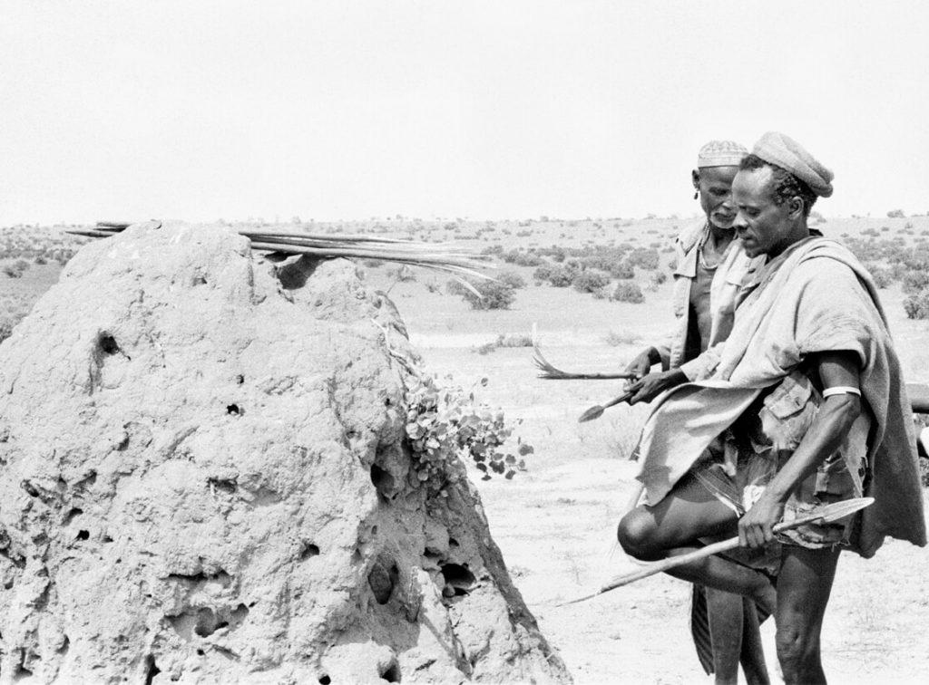 Black and white photo of ethiopian men