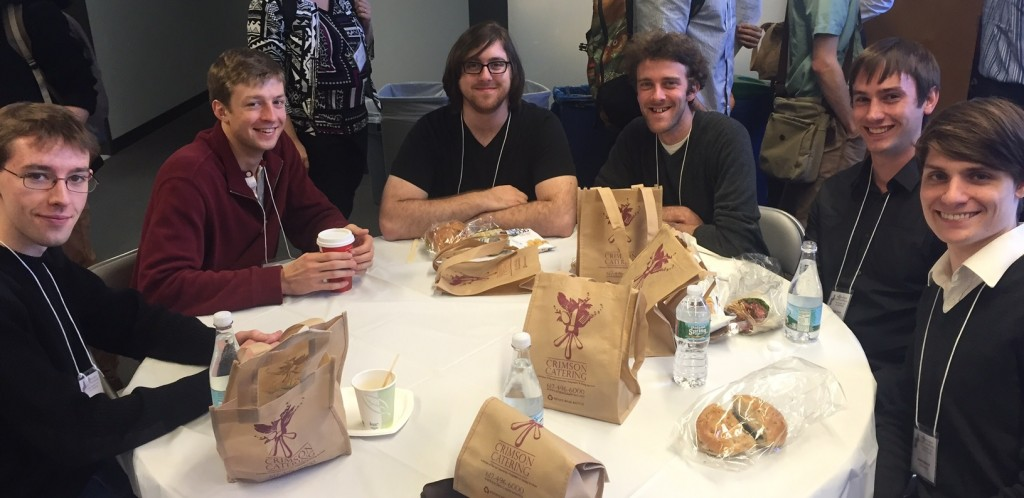 Ian, Zach, Matt, Andrew, Chris, and Andrew having lunch at the NECF meeting