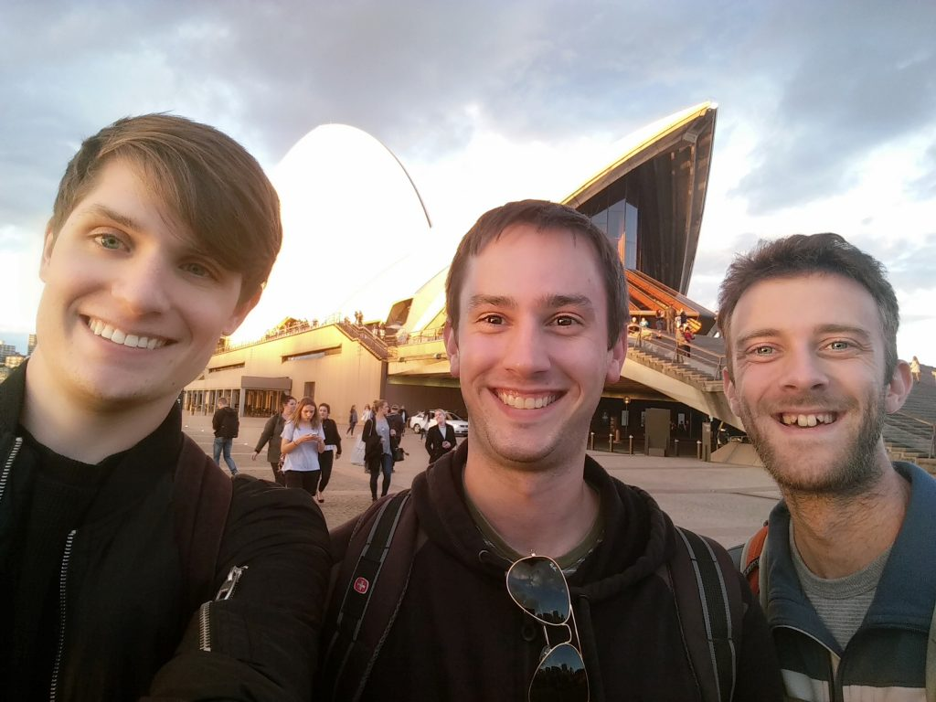 Chris and the Andrews in front of the Sydney Opera House