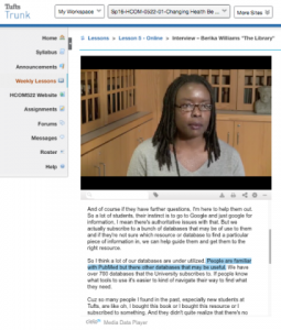 Video Interactive Transcript