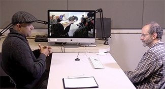 Biology professor Silas Pinto discussing teaching with professor David Hammer in the Virtual Classroom Visits series