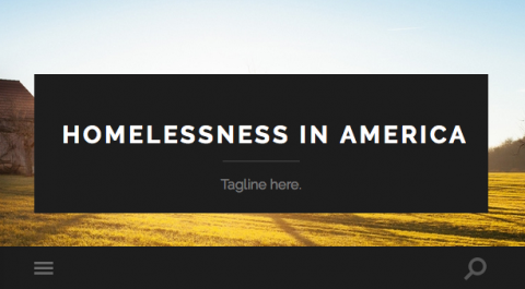 Homepage of student blog for Homelessness in America course