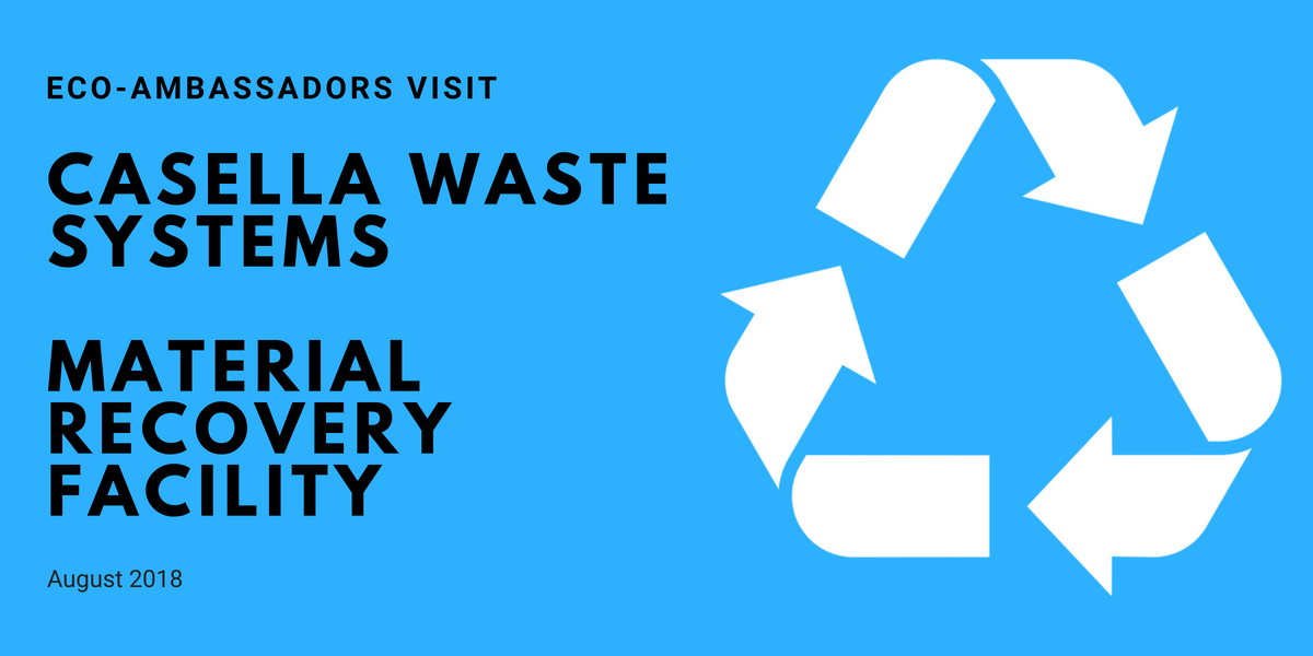 Eco Ambassador Visit To Casella Waste Management Materials