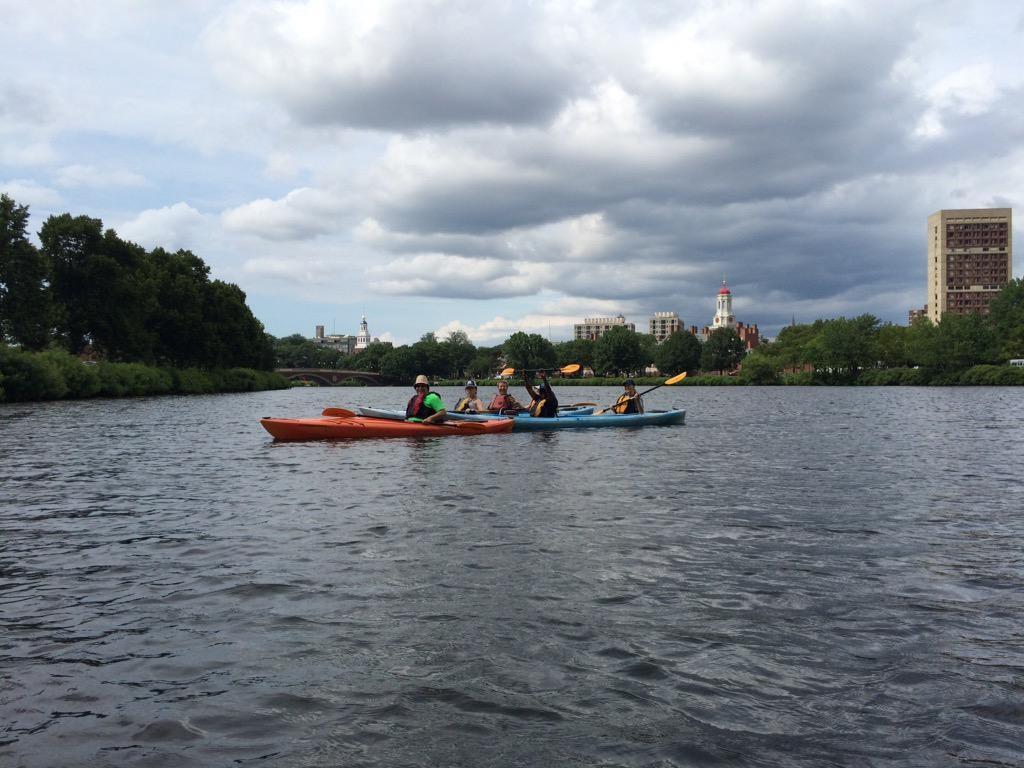 paddling down charles