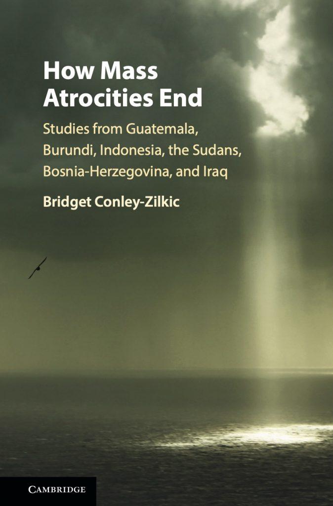 How Mass Atrocities End book cover light through clouds
