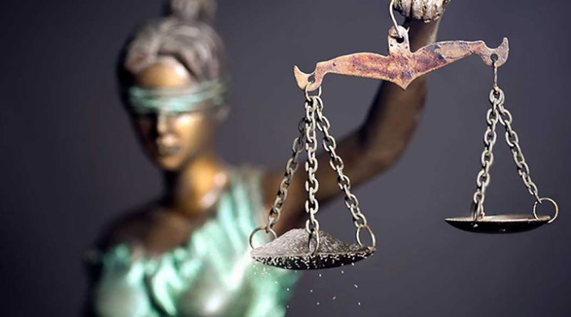 Image of scales of justice blindfolded