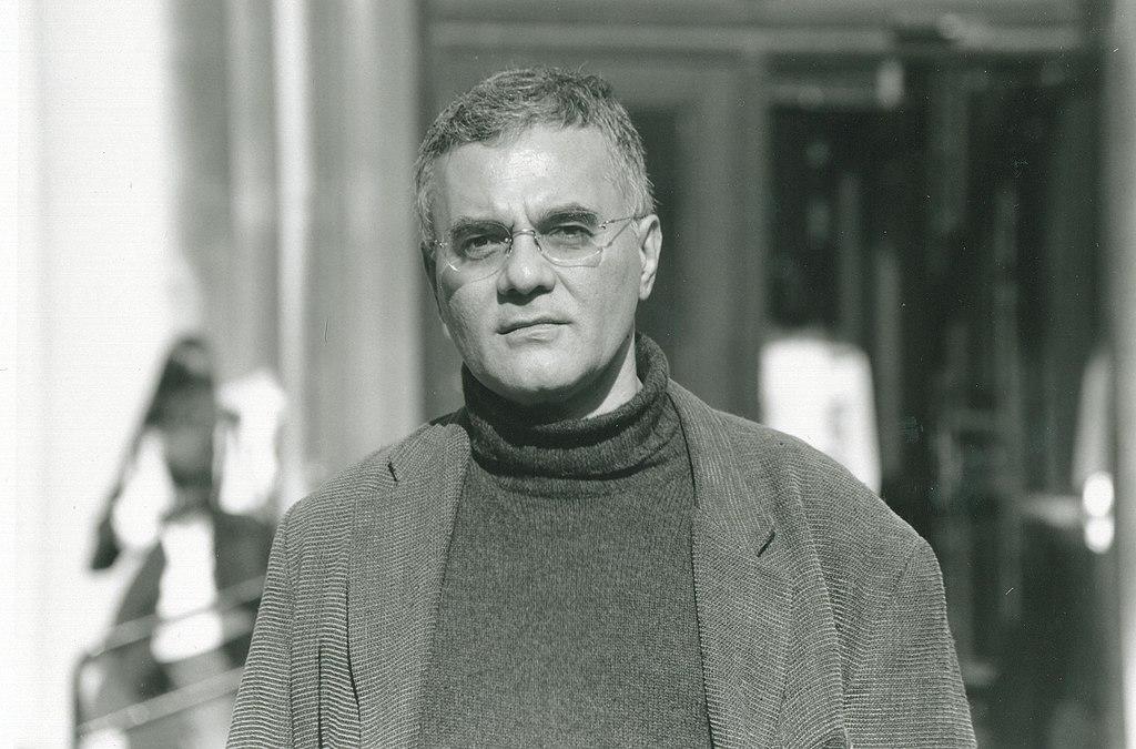 Black and white headshot Mahmood Mamdani