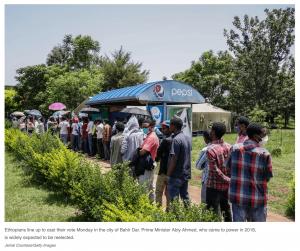 Ethiopians in line to vote