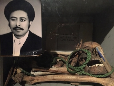 Bones and photo of a man killed during the Red Terror (RTMMM)